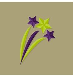 Festive stars flat icon vector