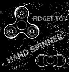 fidget spinner hand drawn vector image vector image