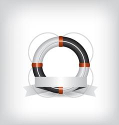 Life Buoy and ribbon vector image vector image