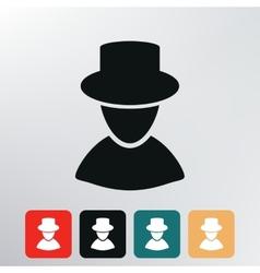 Man silhouette icon vector image vector image