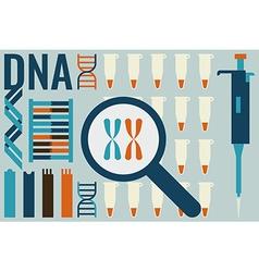 Molecular biology laboratory concept vector image