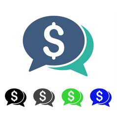 Money chat flat icon vector