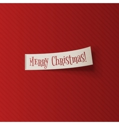 Realistic Christmas white Ribbon on red Background vector image