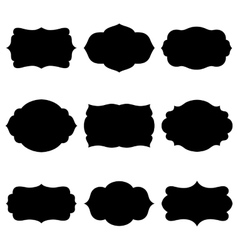 Set of farmes silhouette vector image