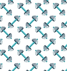 Sports seamless pattern with dumbbells vector image vector image