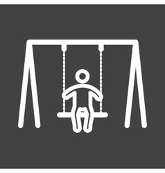 Swinging vector image