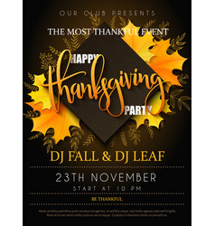 Thanksgiving party poster vector