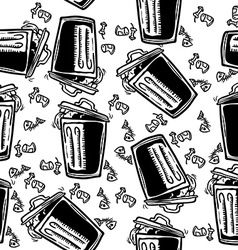 trash can pattern vector image
