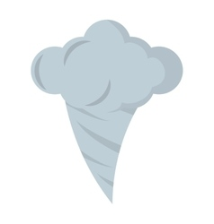 twister climate symbol isolated icon vector image vector image