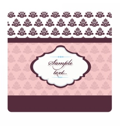 Vintage card with damask ornaments vector