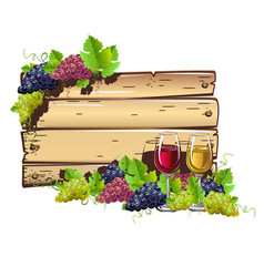 Wine empty frame vector