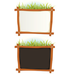 wood frame with sign vector image vector image
