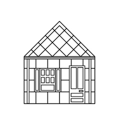 One storey house with one window icon vector