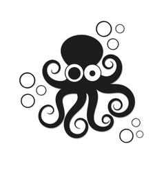 Logo octopus vector image