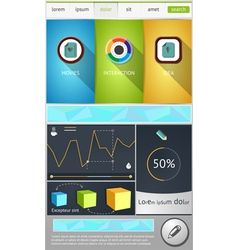 Flat objects for web design vector