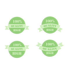 Green labels high quality vector