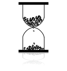 Money hourglass vector