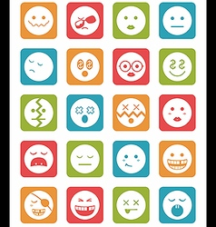 20 characters in square icons set 2 vector