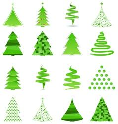 356 - christmas treabstract christmas trees vector image vector image