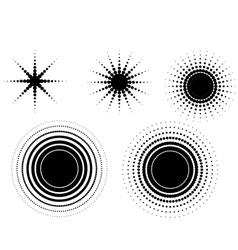 5 circular fades vector