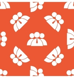 Orange user group pattern vector