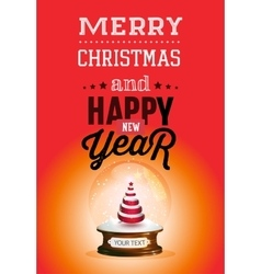 Christmas and new year lettering background vector