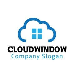 Cloud window design vector