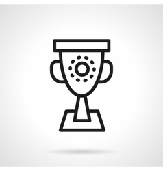 Trophy black simple line icon vector