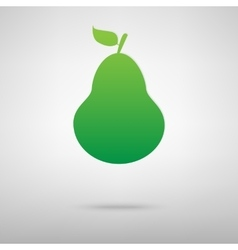 Fruit pear green icon vector