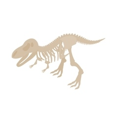 Dinosaur skeleton icon isometric 3d style vector image