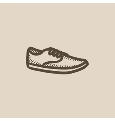 Male shoe sketch icon vector