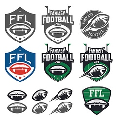 American football fantasy league design elemens vector image vector image
