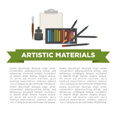 artistic materials for art works creation vector image vector image