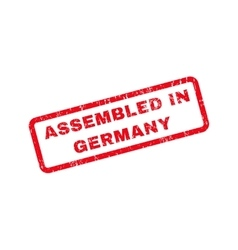Assembled in germany text rubber stamp vector