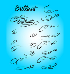 Brilliant swash and tail decoration hand written t vector