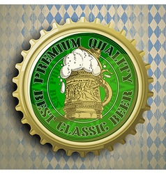 Cap for beer bottles vector