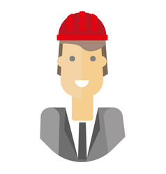 cheerful businessman in hardhat vector image vector image