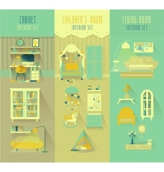 Children room cabinet living room interior vector image