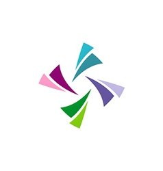 Circle colorful shape logo vector