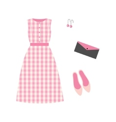 Dress in a cage and accessories vector