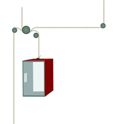 Elevator - isolated vector image