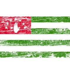 Flag of Abkhazia with old texture vector image