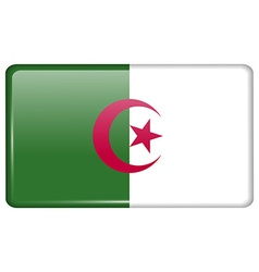 Flags Algeria in the form of a magnet on vector image vector image
