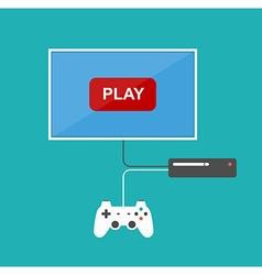 Flat design computer games concept vector