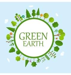Green earth concept natural vector