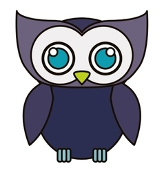 Isolated owl cartoon design vector image