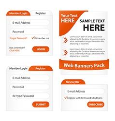 Modern Web Elements Pack vector image vector image