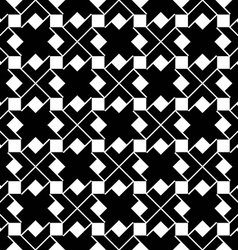 Monochrome geometric art seamless pattern vector