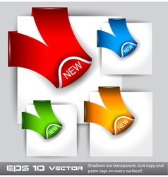 New Label Ribbon Icons vector image vector image