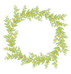 Olive wreath isolated on white background vector